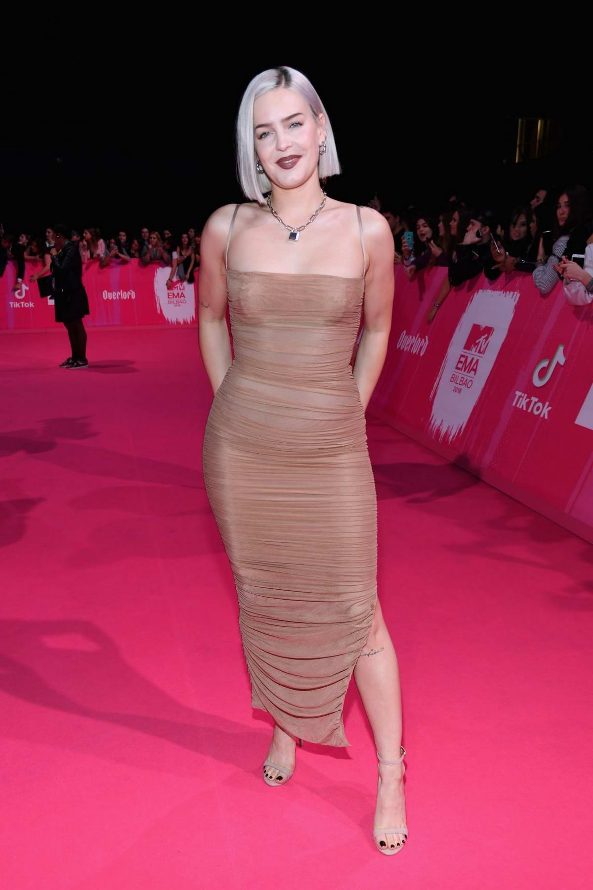 Anne-Marie Rose Nicholson attends the MTV EMAs 2018 at the Bilbao Exhibition Centre in Bilbao, Spain