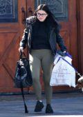 Ariel Winter spends her Sunday morning taking her dog to the vet in Sherman Oaks, California