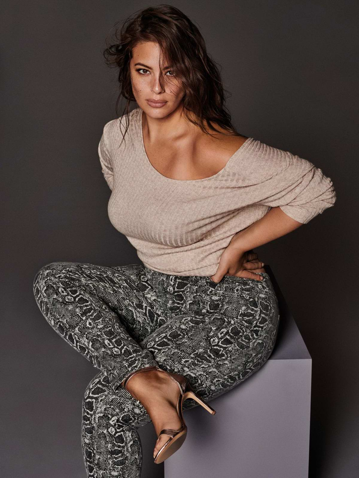 Ashley Graham in Violeta By Mango Campaign 2018