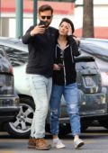 Ashley Greene and Paul Khoury get in some last minute grocery shopping for thanksgiving at Ralph's in Los Angeles