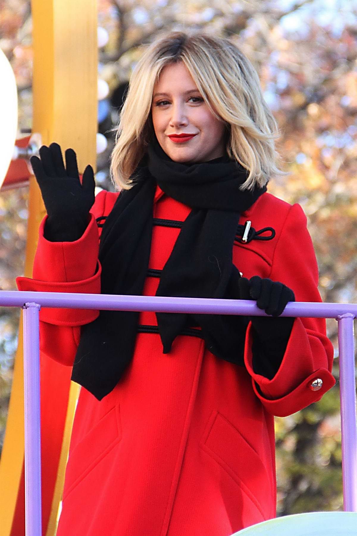 Ashley Tisdale attends the 92nd annual Macy's Thanksgiving Day Parade in New York City