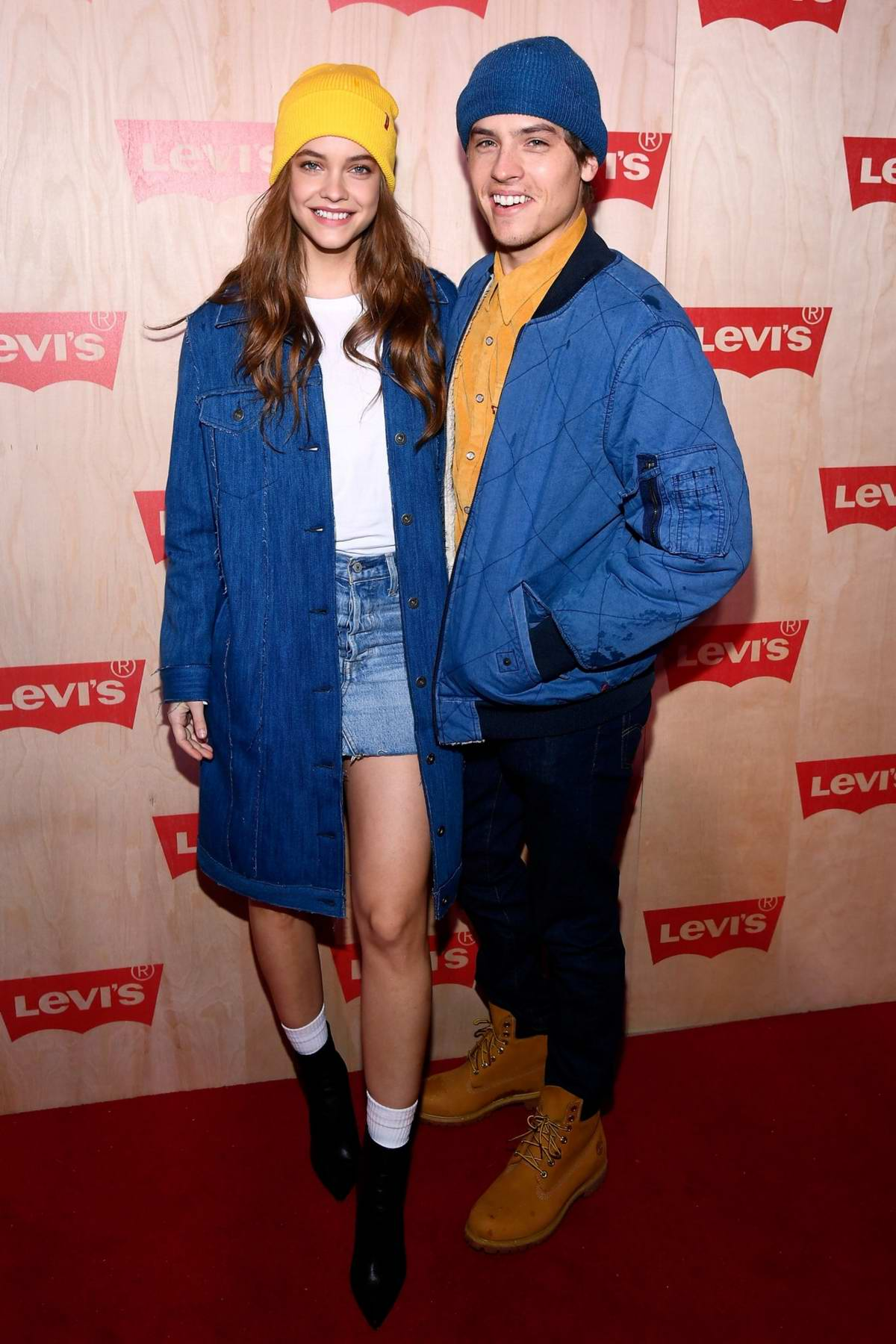 Barbara Palvin and Dylan Sprouse at the Levi's Times Square Store Opening in New York City