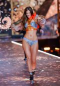 Barbara Palvin walks the runway during the 2018 Victoria's Secret Fashion Show at Pier 94 in New York City