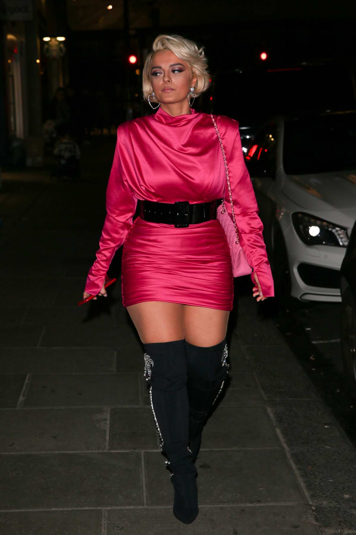 Bebe Rexha and Dua Lipa steps out for dinner in London, UK