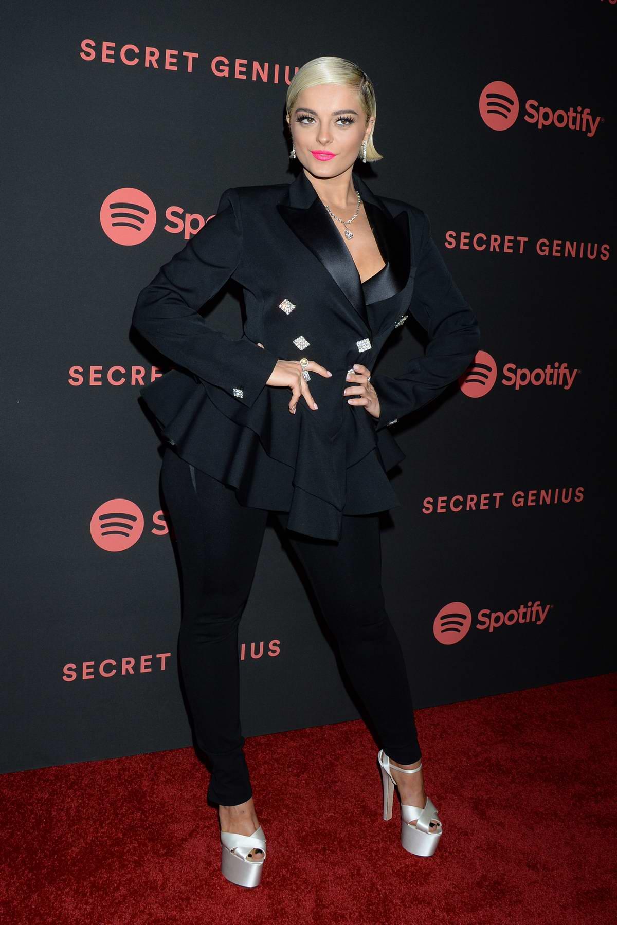 Bebe Rexha attends Spotify Secret Genius Awards 2018 in Los Angeles