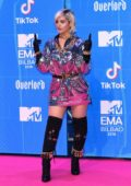 Bebe Rexha attends the MTV EMAs 2018 at the Bilbao Exhibition Centre in Bilbao, Spain