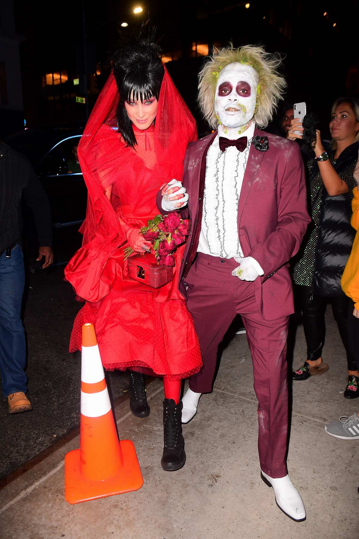 Bella Hadid and The Weeknd attends Heidi Klum's 19th Annual Halloween Party at Lavo in New York City