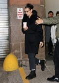 Bella Hadid and The Weeknd tries to avoid the cameras while out for Coffee together in New York City