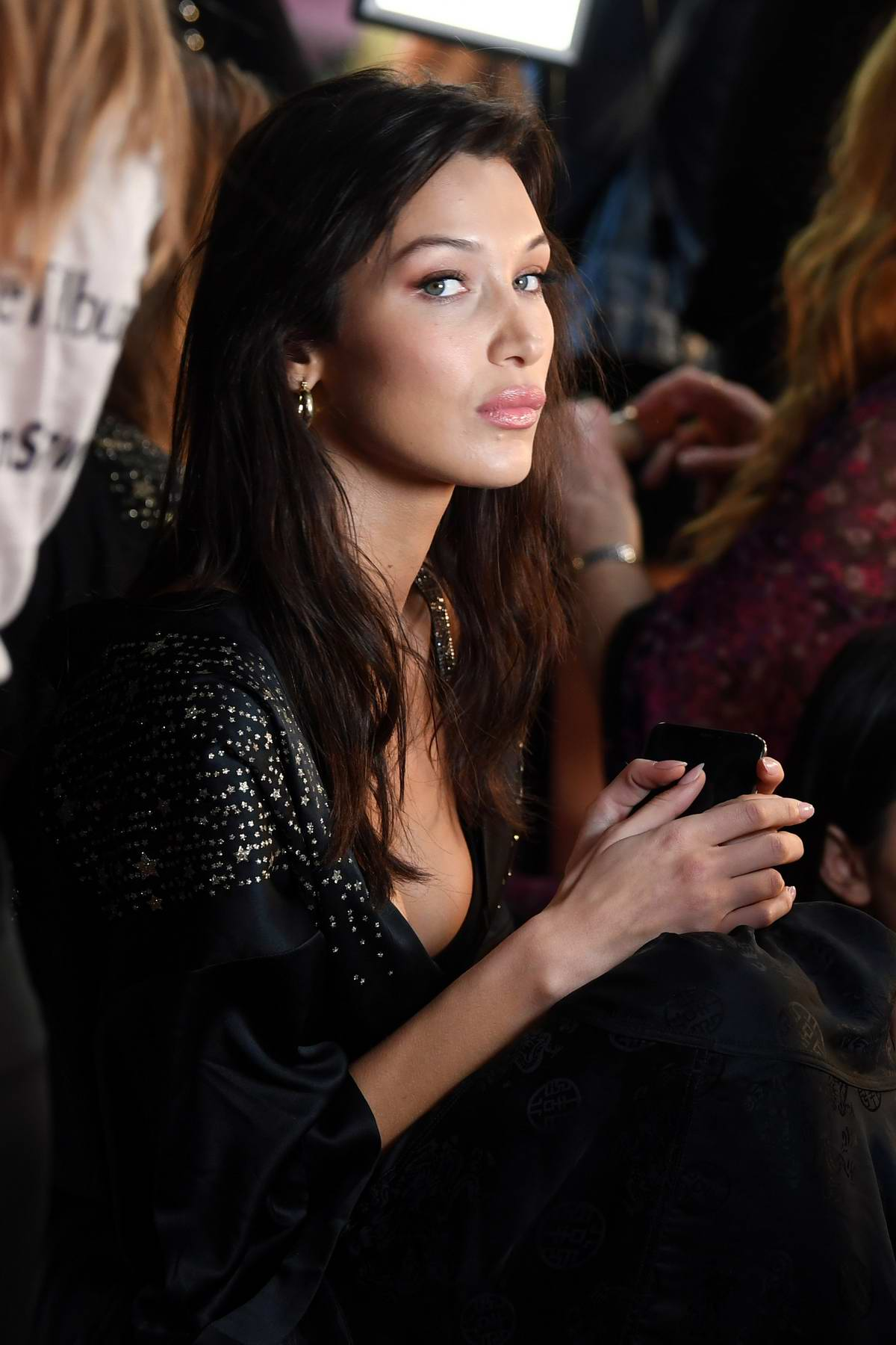 Bella Hadid seen backstage during the 2018 Victoria's Secret Fashion Show in New York City