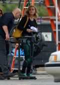 Brie Larson suits up to re-shoot scenes for 'Captain Marvel' in Los Angeles