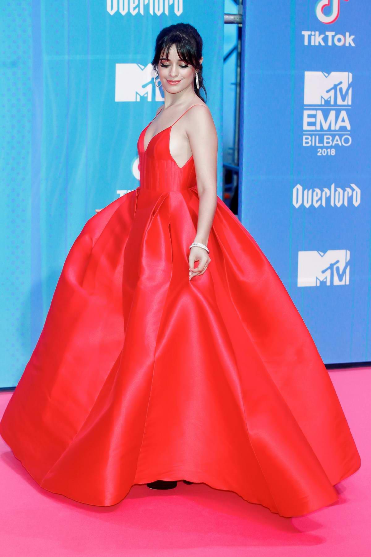 Camila Cabello attends the MTV EMAs 2018 at the Bilbao Exhibition Centre in Bilbao, Spain