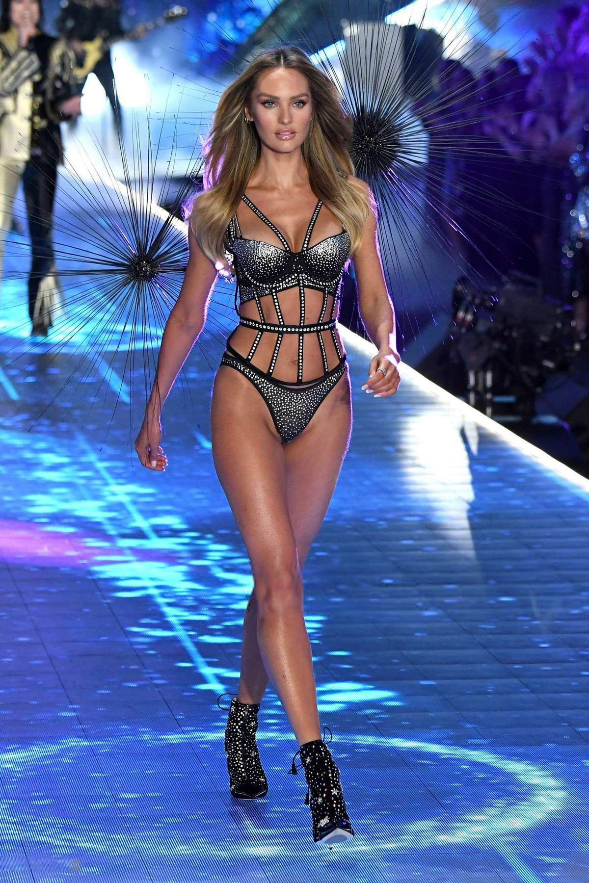 Candice Swanepoel walks the runway during the 2018 Victoria's Secret Fashion Show at Pier 94 in New York City
