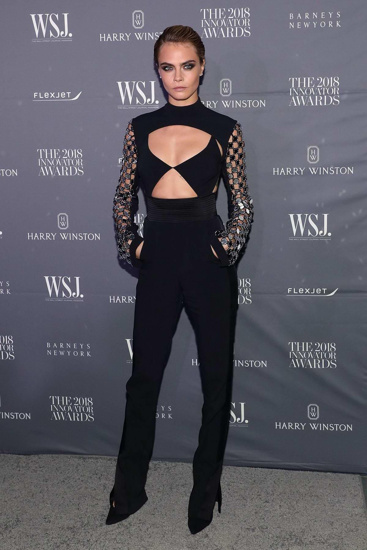 Cara Delevigne attends WSJ Magazine 2018 Innovator Awards in New York City