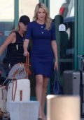 Charlize Theron seen in her Megyn Kelly look while filming 'Fair And Balanced' in Los Angeles