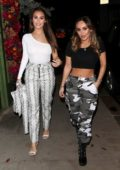 Chloe and Lauryn Goodman enjoys a night out at Kiru in London, UK