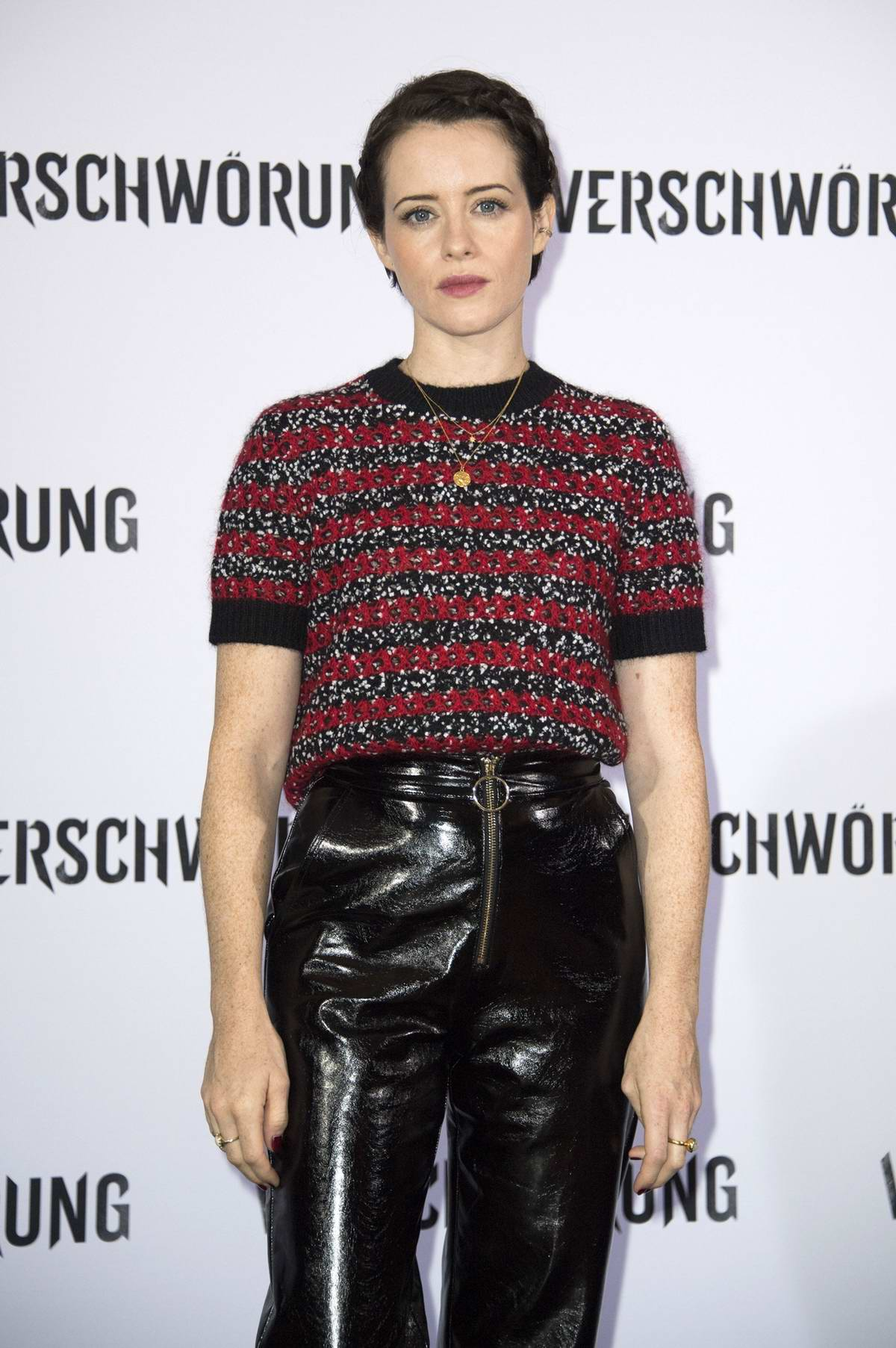 Claire Foy attends 'The Girl In The Spider's Web' photocall at the Grand Hyatt Hotel in Berlin, Germany