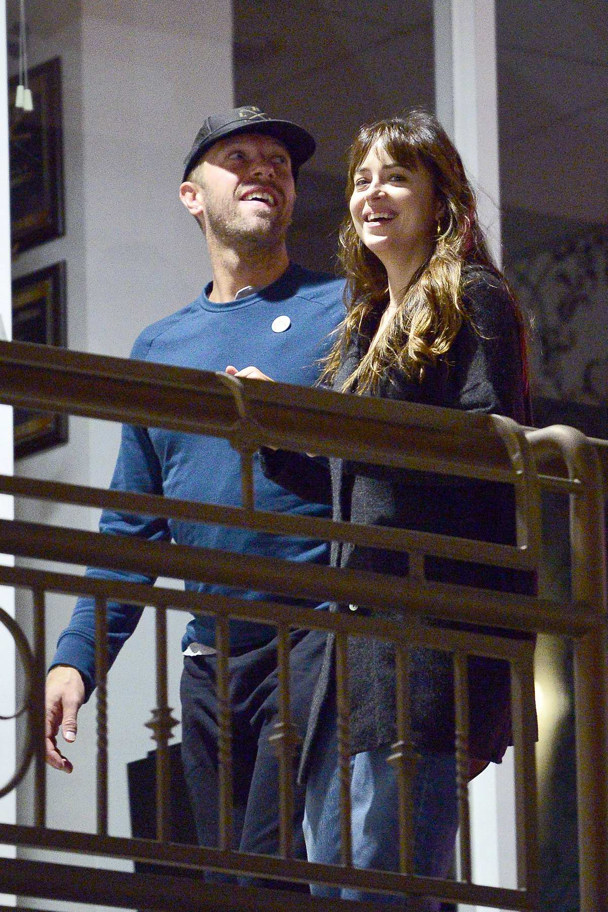Dakota Johnson and Chris Martin spotted leaving after a romantic dinner at Sushi Park in West Hollywood, Los Angeles