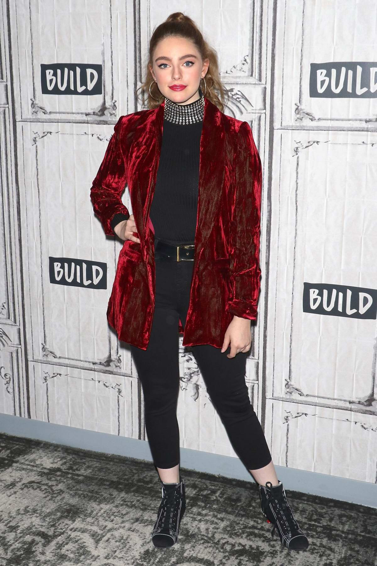 Danielle Rose Russell promotes her TV show 'Legacies' at the AOL Build Series in New York City