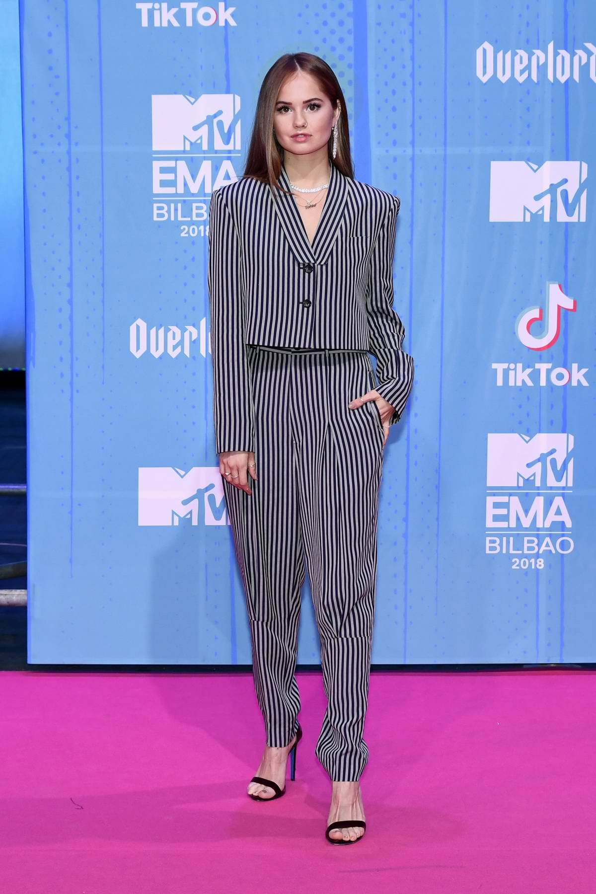 Debby Ryan attends the MTV EMAs 2018 at the Bilbao Exhibition Centre in Bilbao, Spain