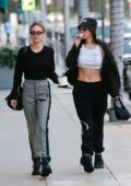 Delilah and Amelia Hamlin grabs some Frozen Yogurt on their way to a nail salon in Beverly Hills, Los Angeles