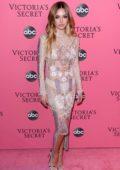 Delilah Hamlin attends the 2018 Victoria's Secret Fashion Show at Pier 94 in New York City