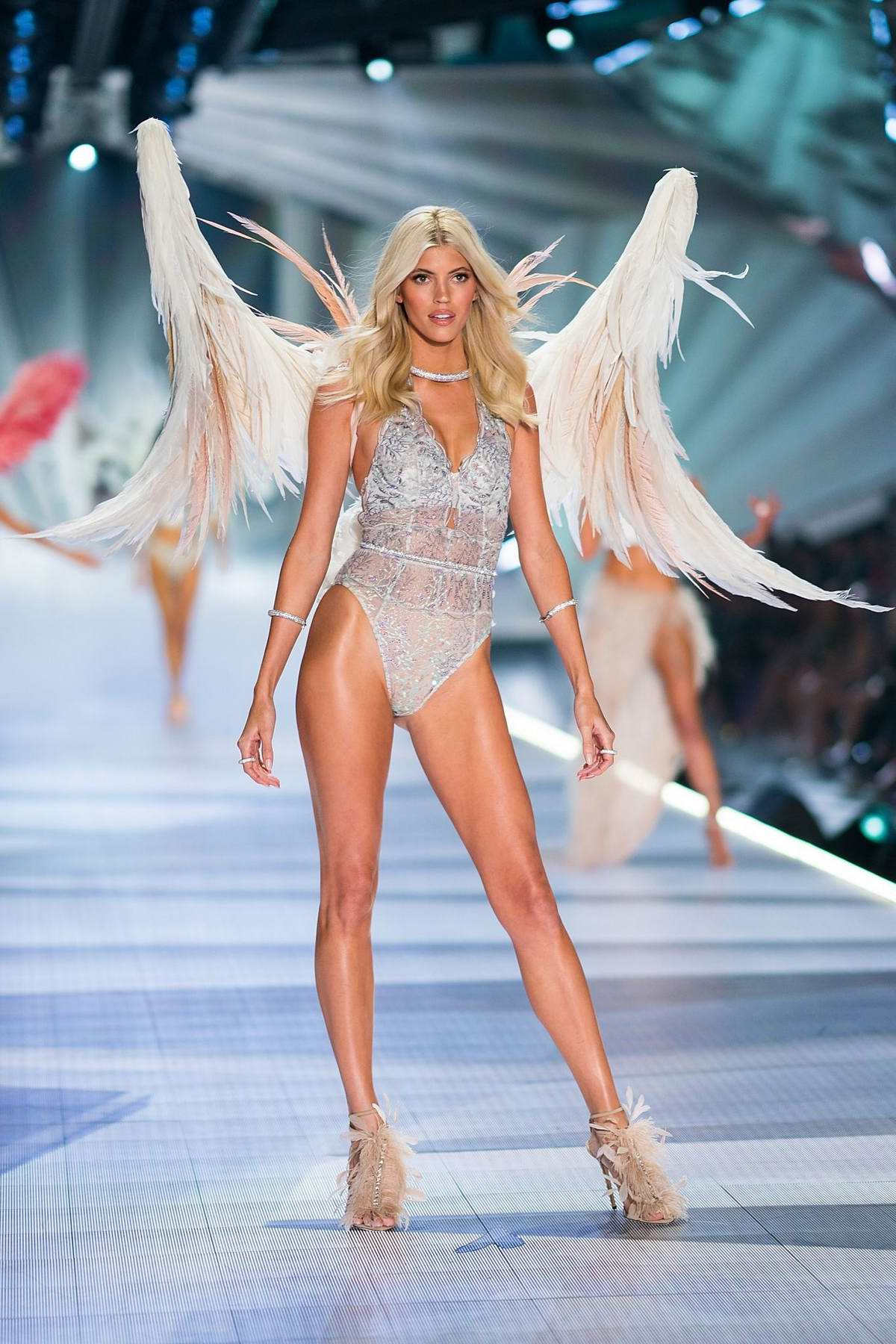 Devon Windsor walks the runway during the 2018 Victoria's Secret Fashion Show at Pier 94 in New York City