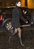 Dua Lipa is all decked up in black as she steps out with her family in Rome, Italy
