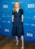 Ellie Bamber attends the British Independent Film Award nominations photocall in London, UK