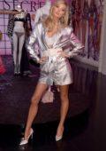 Elsa Hosk celebrates the 2018 Victoria's Secret Fashion Show at Victoria's Secret 5th Avenue Store in New York City
