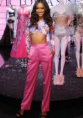Jasmine Tookes celebrates the 2018 Victoria's Secret Fashion Show at Victoria's Secret 5th Avenue Store in New York City