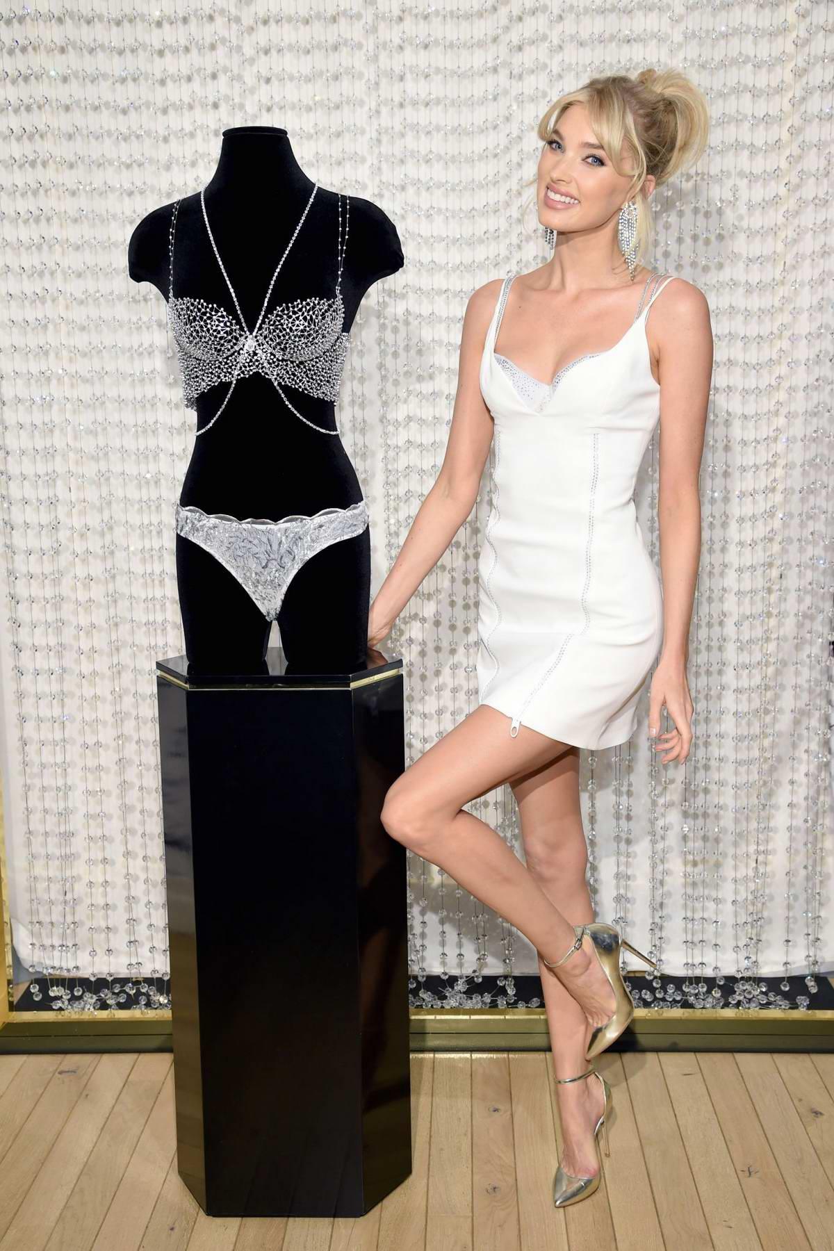 Elsa Hosk unveils the 2018 Dream Angels Fantasy Bra ahead of the Victoria's Secret Fashion Show in New York City