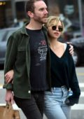 Emilia Clarke and new boyfriend Charlie McDowell picks up some groceries from Erewhon out in Los Angeles