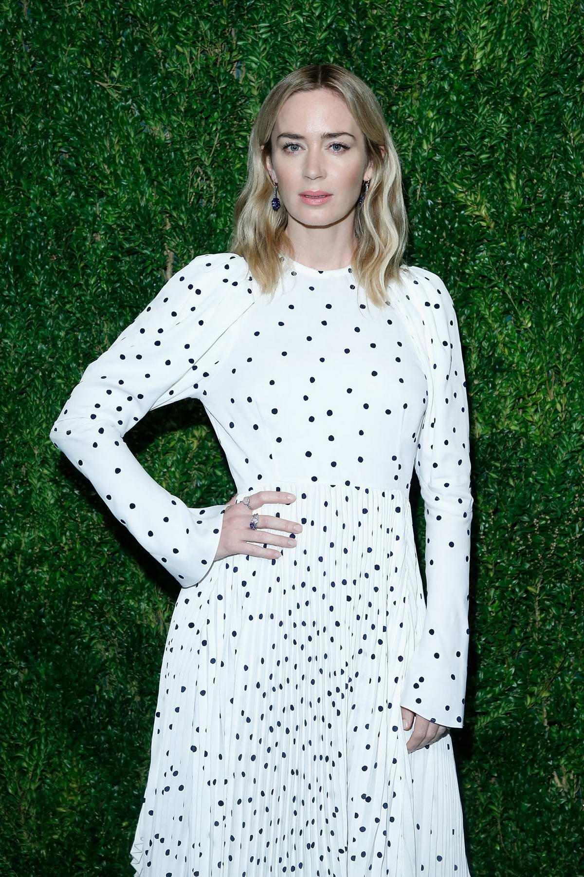 Emily Blunt attends CFDA Vogue Fashion Fund 15th Anniversary Awards in Brooklyn, New York City