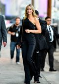 Emily Blunt seen wearing an all black ensemble as she arrives for her appearance on 'Jimmy Kimmel Live' in Los Angeles