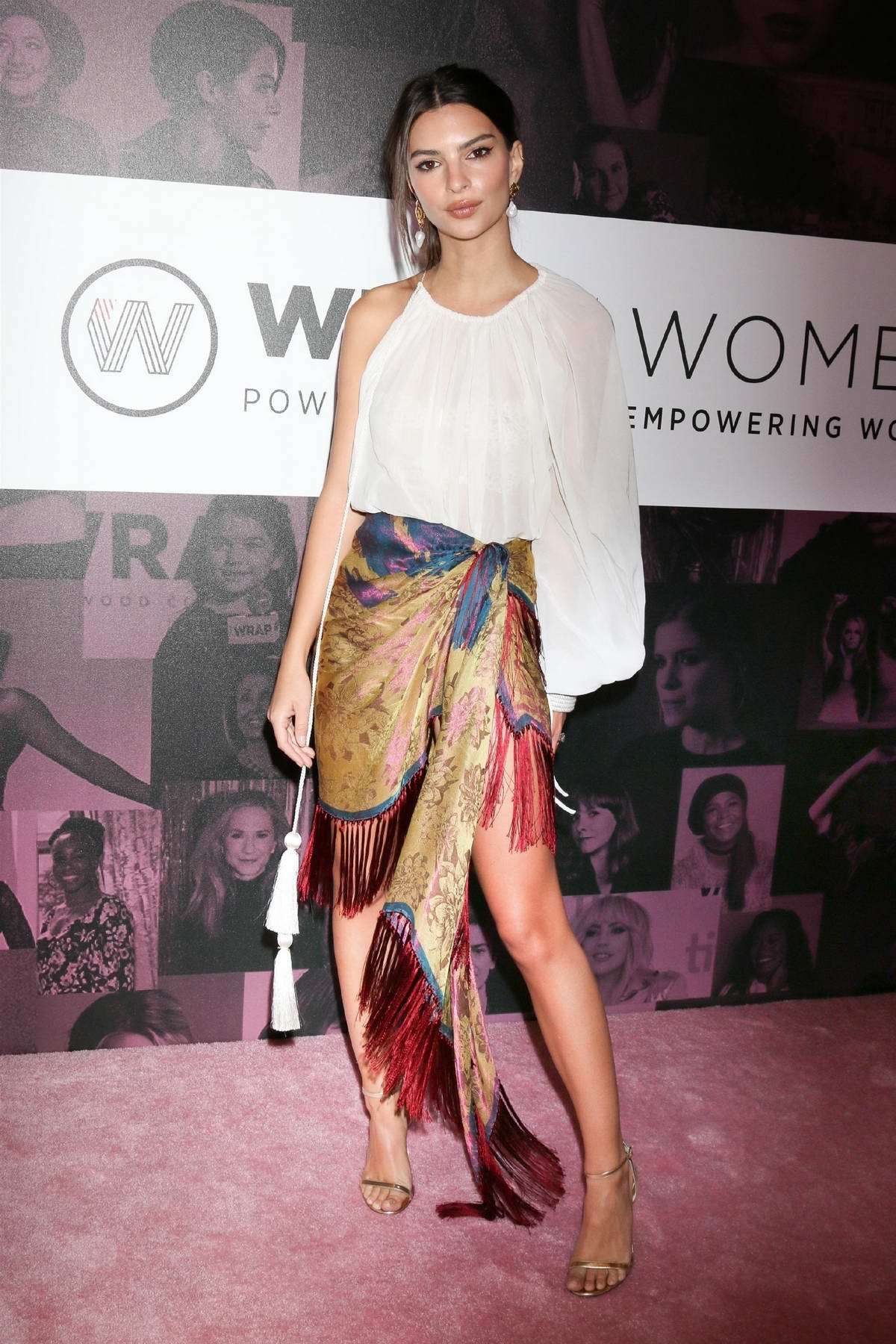Emily Ratajkowski attends the WrapWomen's Power Women Summit at the InterContinental Hotel in Los Angeles