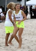 Eugenie Bouchard at the Sports Illustrated's Celebrity Beach Soccer Match in Miami, Florida
