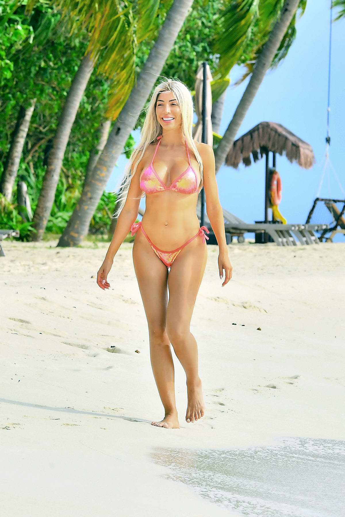 Farrah Abraham enjoys the beach in a bikini while vacationing at the Ayada Resort in the Maldives
