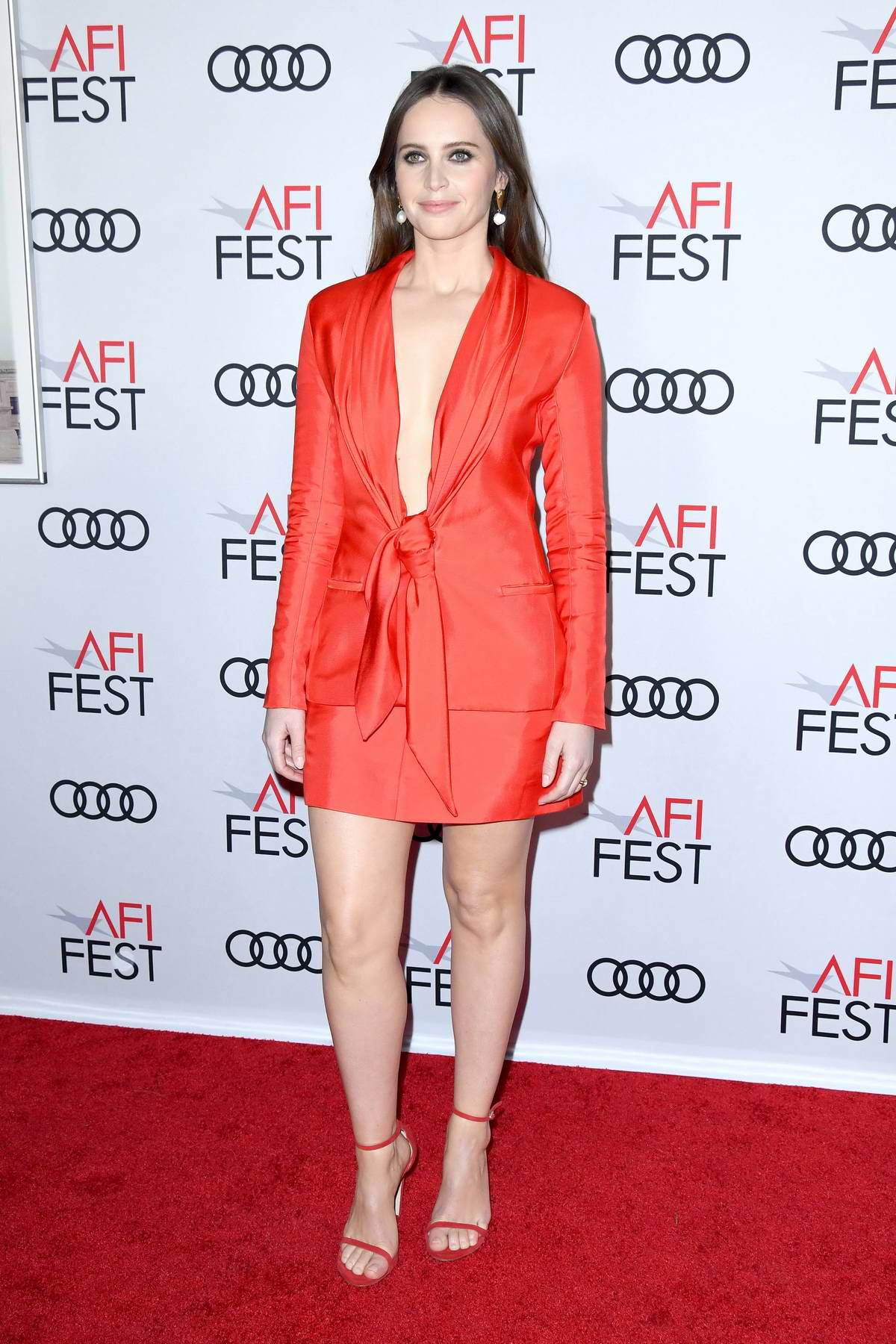 Felicity Jones attends 'On The Basis Of Sex' Premiere and Opening Ceremony at AFI Fest in Los Angeles