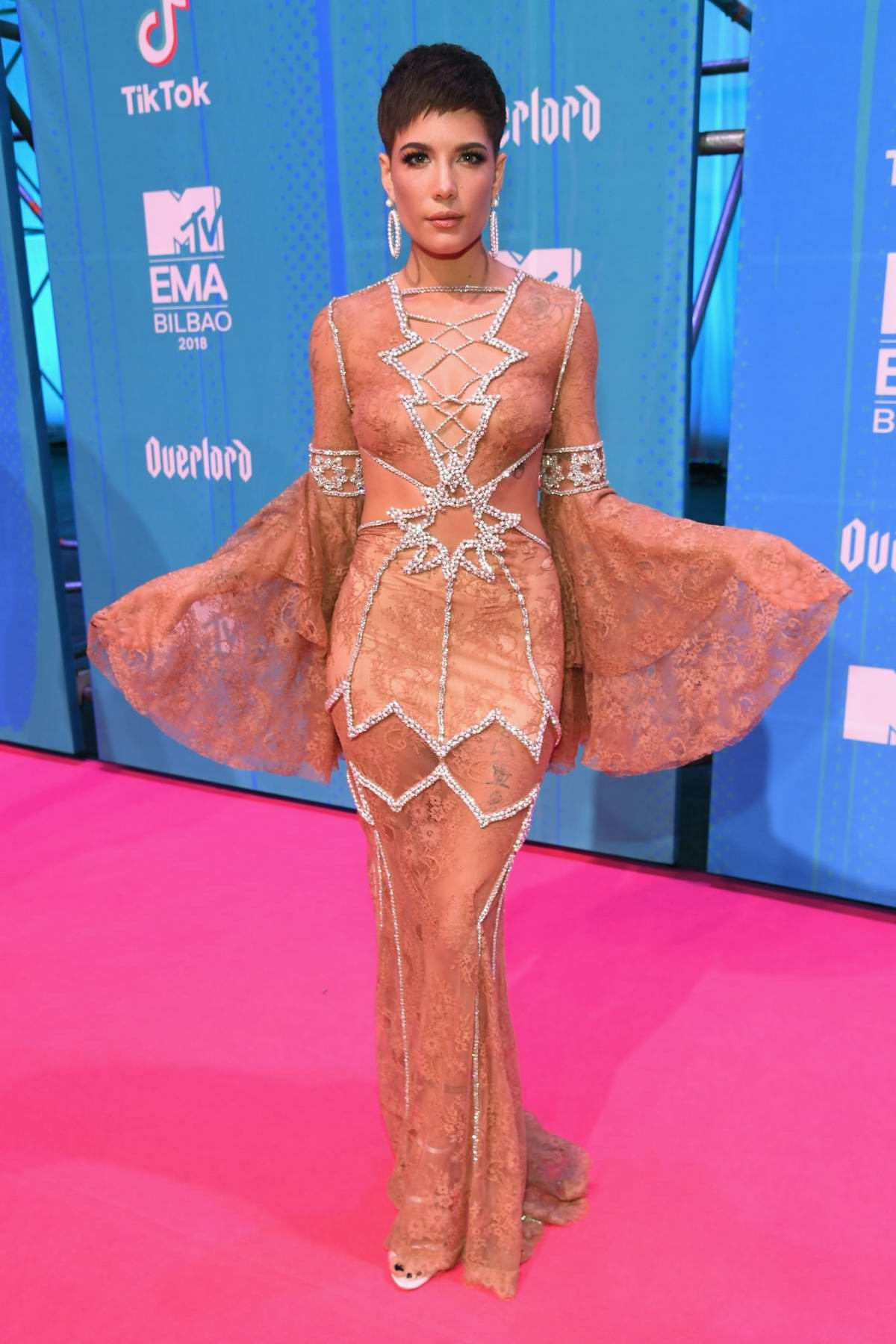 Halsey attends the MTV EMAs 2018 at the Bilbao Exhibition Centre in Bilbao, Spain