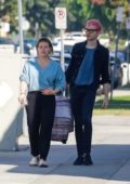Hilary Duff and Matthew Koma bring their newborn baby out for a coffee run in Los Angeles