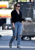 Hilary Duff and Matthew Koma steps out for the first time with their newborn baby girl in Los Angeles