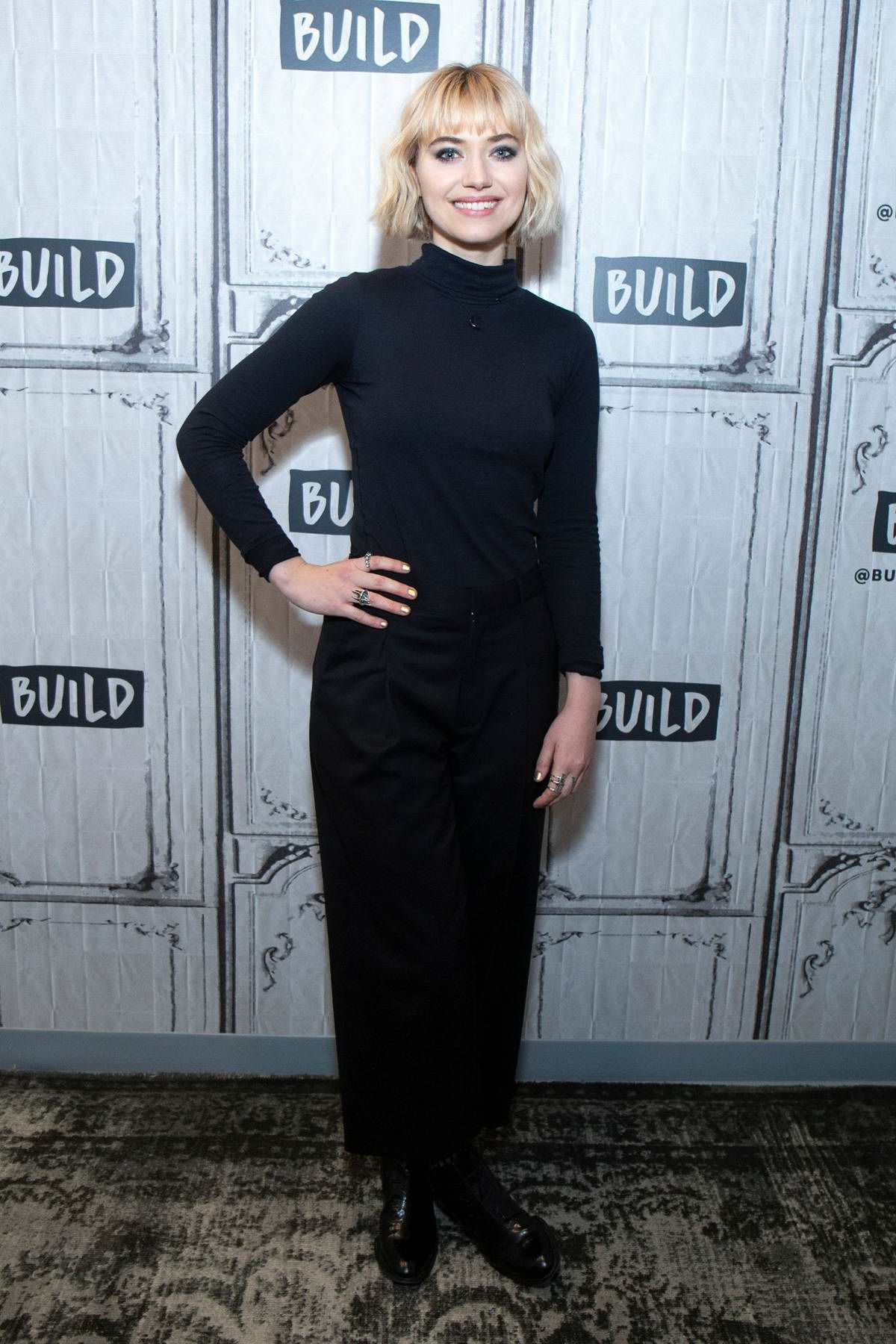 Imogen Poots visits AOL Build Series in New York City