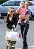 Irina Shayk and Bradley Cooper takes their daughter Lea to a birthday party in Santa Monica, California