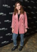 Jenna Coleman attends the panel at Aliencon in Baltimore, Maryland