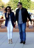Jenna Dewan and boyfriend Steve Kazee share a hug and hold hands while out together in Beverly Hills, Los Angeles