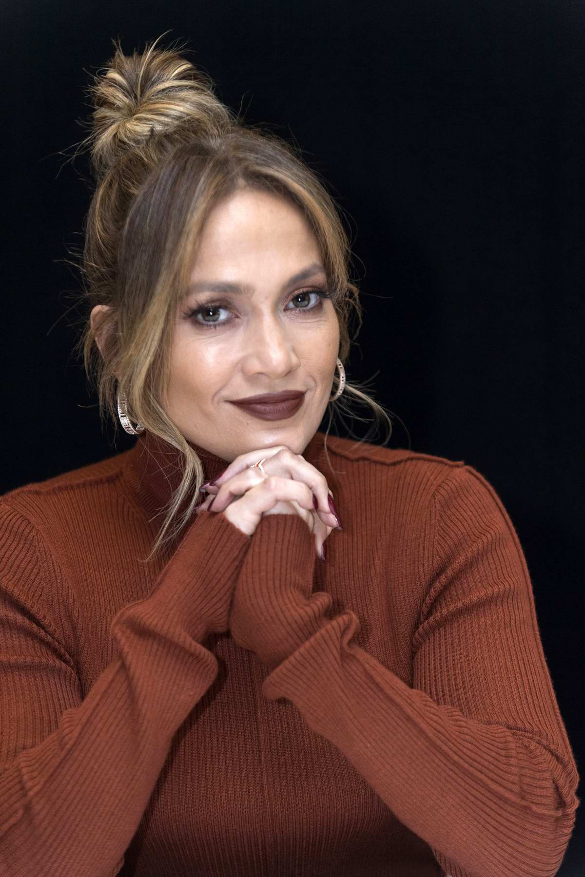 Jennifer Lopez at the 'Second Act' Press Conference Portraits at the Four Seasons Hotel in Beverly Hills, Los Angeles