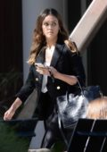 Jessica Alba dressed for business as she leaves a meeting in Los Angeles