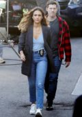 Jessica Alba seen while filming a scene on the set of L.A's Finest in Los Angeles