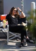 Jessica Alba spotted as she gets ready on the set of 'L.A's Finest' in Los Angeles