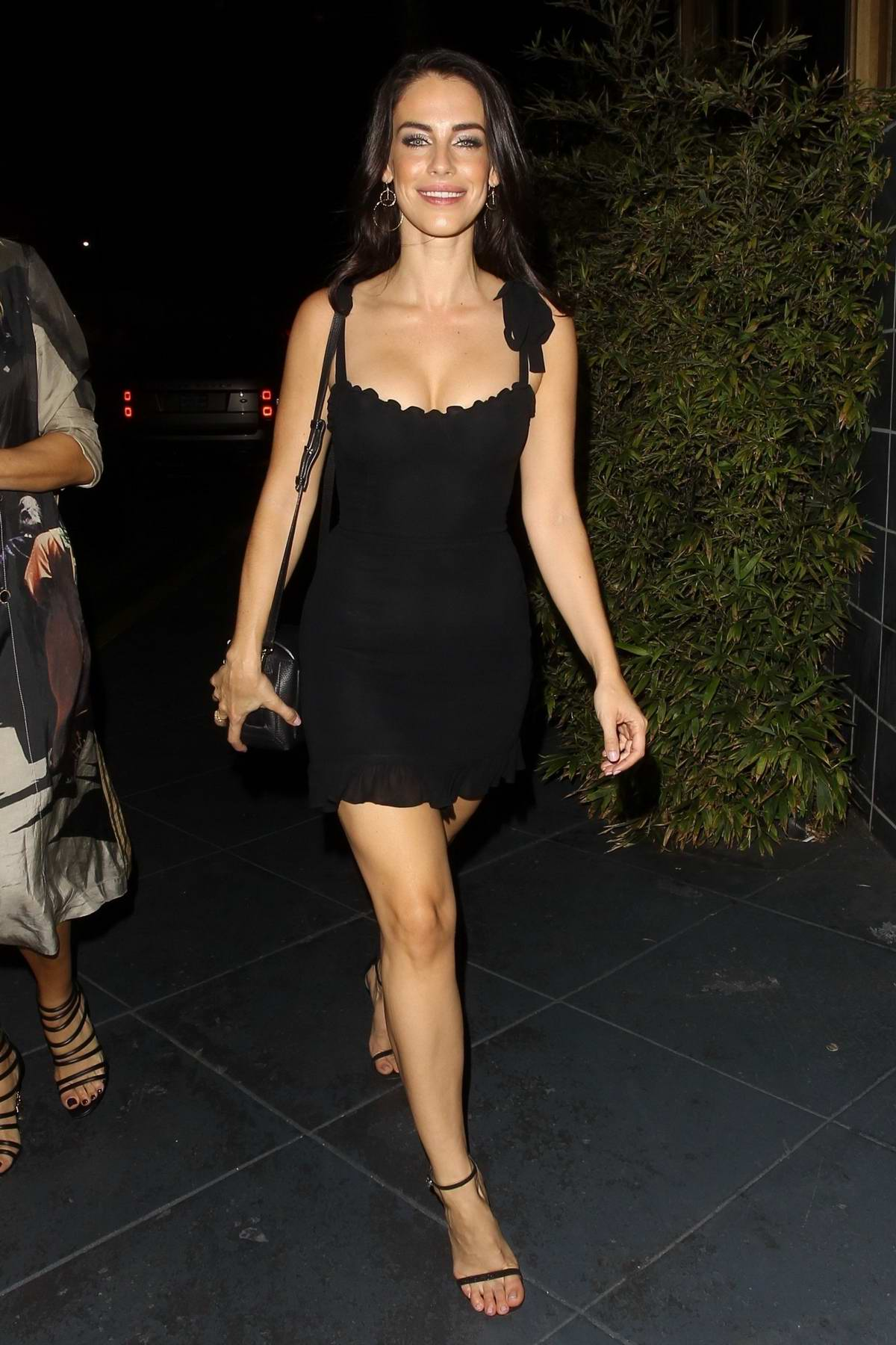 Jessica Lowndes celebrates her 30th birthday with dinner at Roku in West Hollywood, Los Angeles